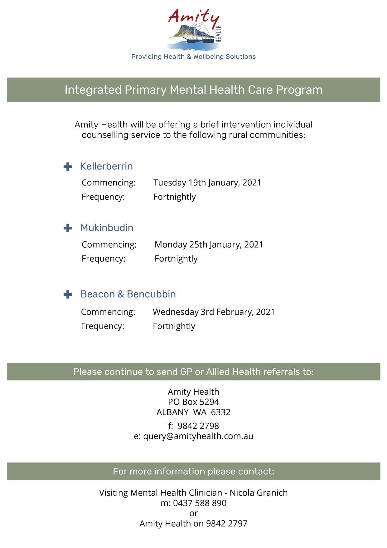Amity-Mental Health Clinician